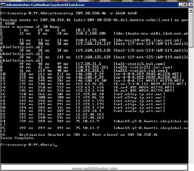 Run-TCP-Trace